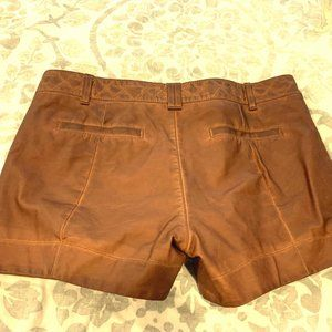 Anthropologie brand cowgirl leather shorts